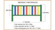 Medida valla de colores